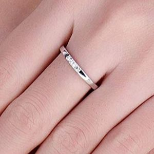 Sterling Silver 3 Stone Ring